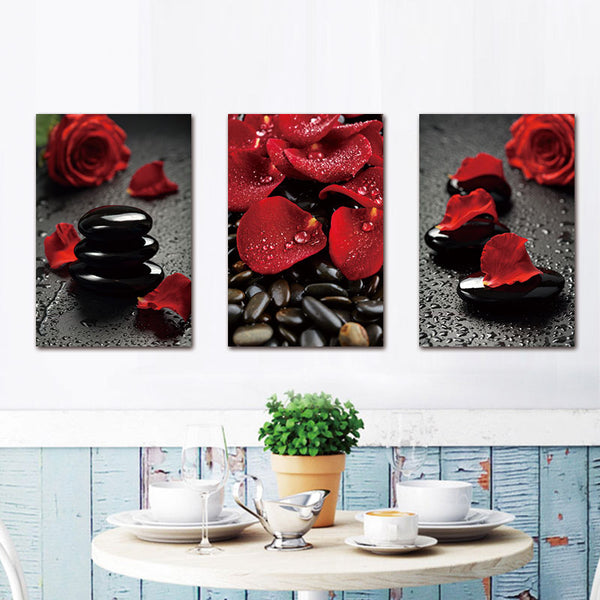 No Frame Wall Painting Rose Flower Canvas Painting Home Decoration Pictures Wall Pictures For Living Room Modular Pictures