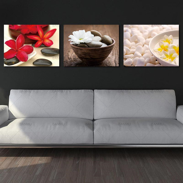 picture canvas painting wall Art Decor Still Life Zen Stone Canvas Wall Art  Flowers Painting Prints Bedroom Wall Art Decor