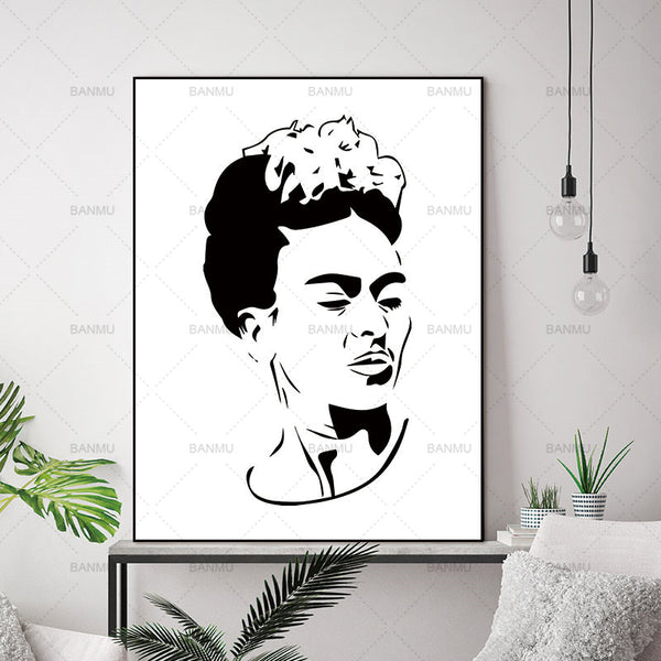 Canvas Painting Wall Art Picture home decor prints Artist Frida Kahlo on canvas no frame Wall poster decoration for living room