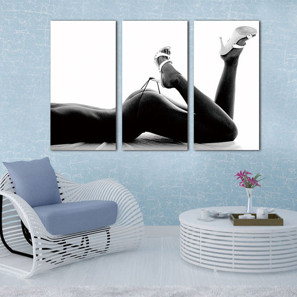 Art Picture Canvas Paintings Wall Decorations Artwork Giclee Painting3 Panels Unframed Canvas Photo Prints Sexy Woman Body Wall