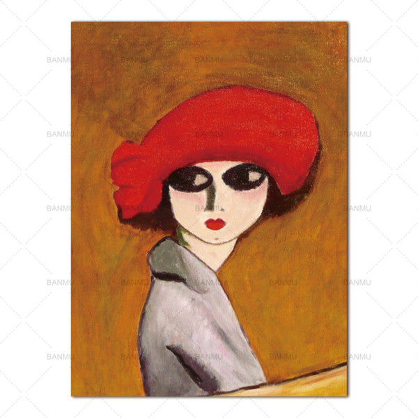 modern wall Wall art abstract  figure canvas painting art canvas Picture decor poster  art portrait  print Wall Pictures print