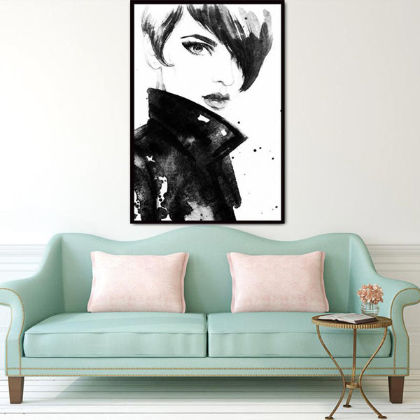 Nordic Minimalist Modern Watercolor Canvas Painting Art HD Print Poster  Girl  Wall Stickers Living Room Home Decor Mix