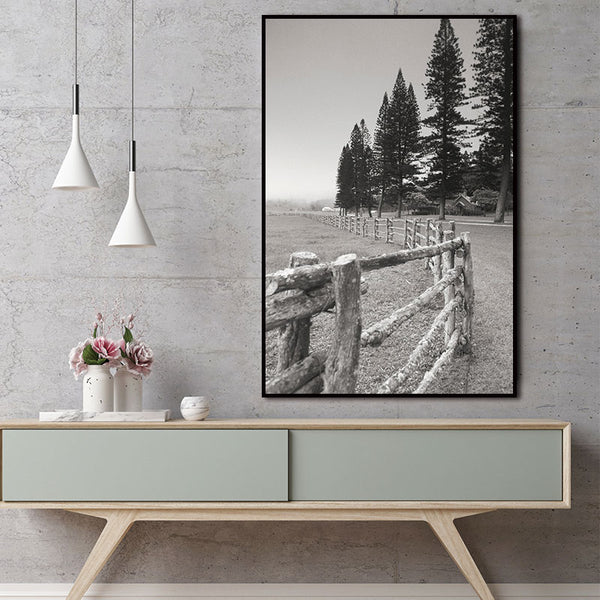Nordic Trees Landscape Forest Abstract Wall Pictures Art Decoration Pictures Scandinavian Natural Canvas Painting Print No Frame