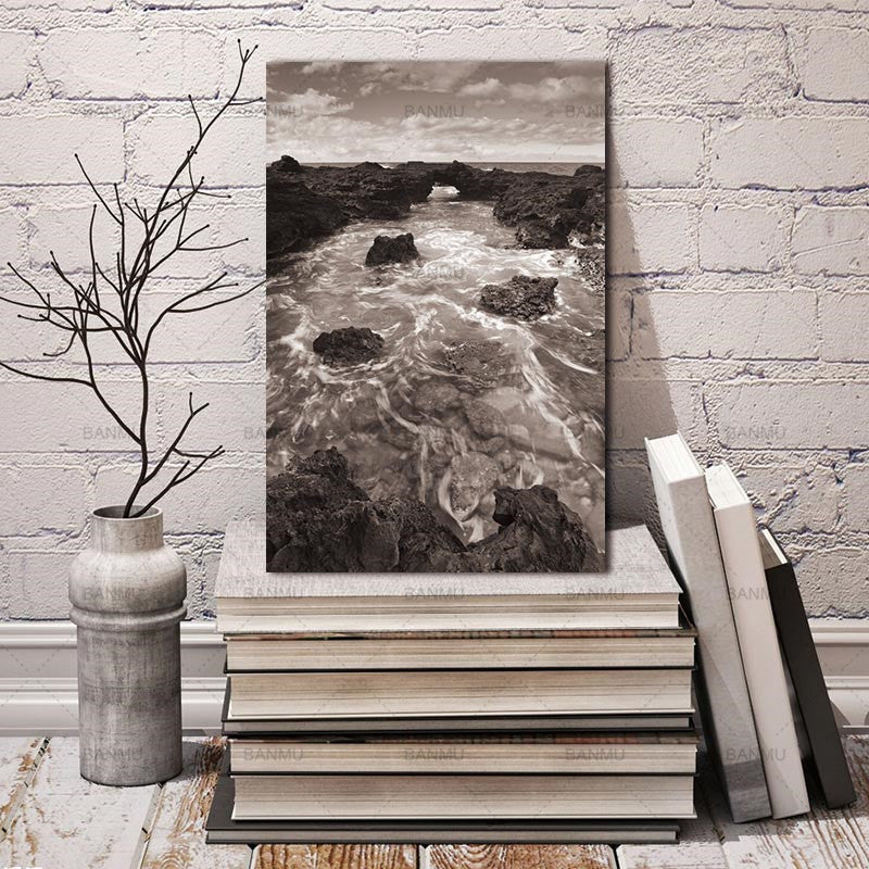 Natural Water Stone Nordic Abstract Wall Pictures for Living Room Art Decoration Pictures Scandinavian Canvas Painting No Frame