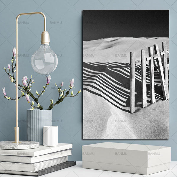 Pictures for Living Room Wall Art Decoration Picture Desert Natural Nordic Abstracts Scandinavian Canvas Painting Print No Frame