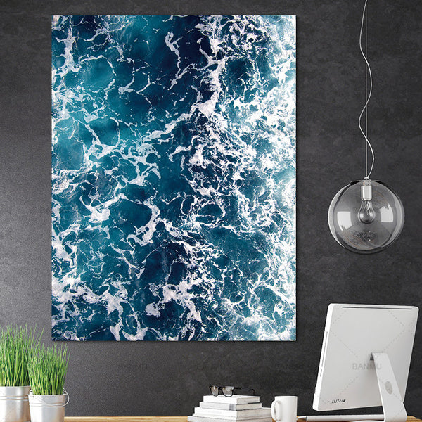 Decoration for living room canvas painting picture wall artwork Sea wave Canvas Painting new arrivals morden print unframed