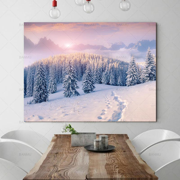 canvas painting landscape poster art forest Picture wall art home decoration Picture for Living Room prints picture art wall