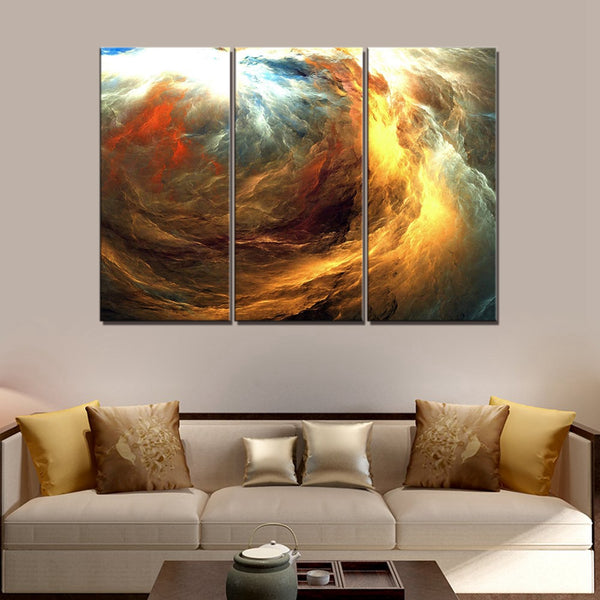 Posters and Prints Abstract Landscape Wall Decor Canvas Painting for Home Decor Abstract Psychedelic Art Space Cloud Wall Art