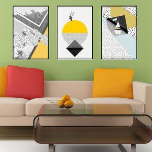 Yellow Geometric Figure Nordic Poster Canvas Painting for Office Wall Art Canvas Prints Nordic Canvas Home Wall Decor Artwork