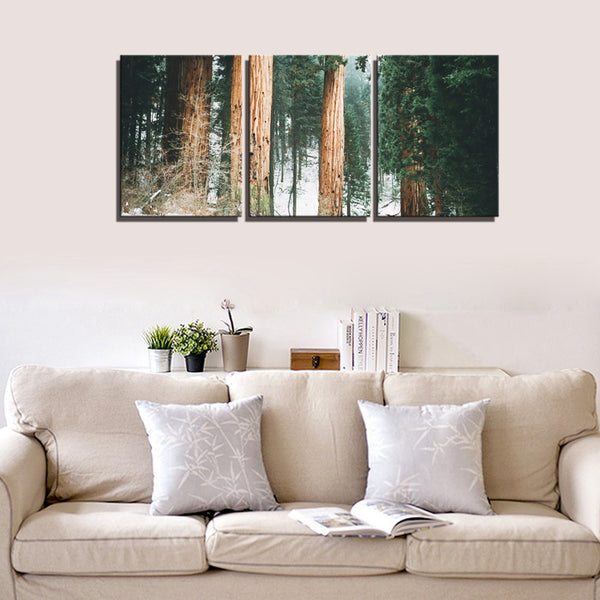Winter Forest Trees Landscape Pictures for Living Room Wall Art Dining Room Tree Wall Decor 30x40cm Frame Canvas Art Art Prints