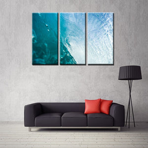 Sea Wave Seascape Rough Water Canvas Painting Prints Artwork Wall Art for Room Office Decorations 3 Panels Special Gifts