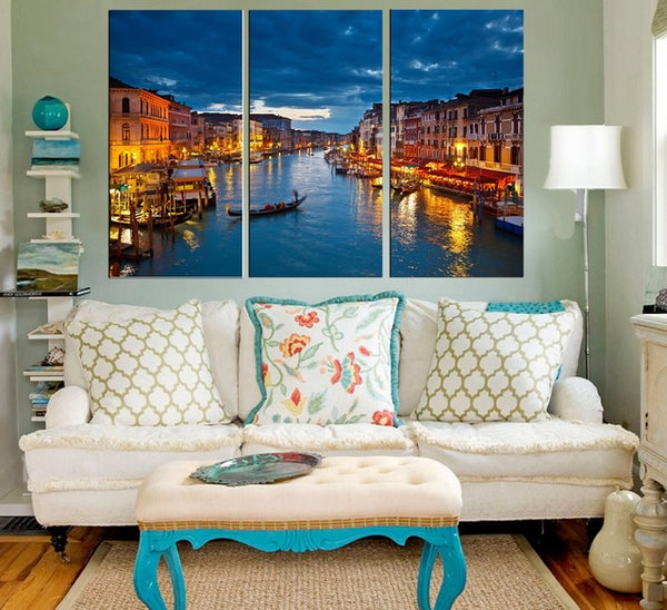 3 Piece Canvas Print Wall Art Stone Seaside Landscape Oil Painting on Canvas for Home Decorations Wall Art Beautiful Poster