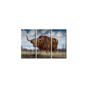 Drop Shipping Wall Decor HD Print Wild Yak Canvas Painting for Office Room Wall Art Home Decoration Artwork Poster Art Prints