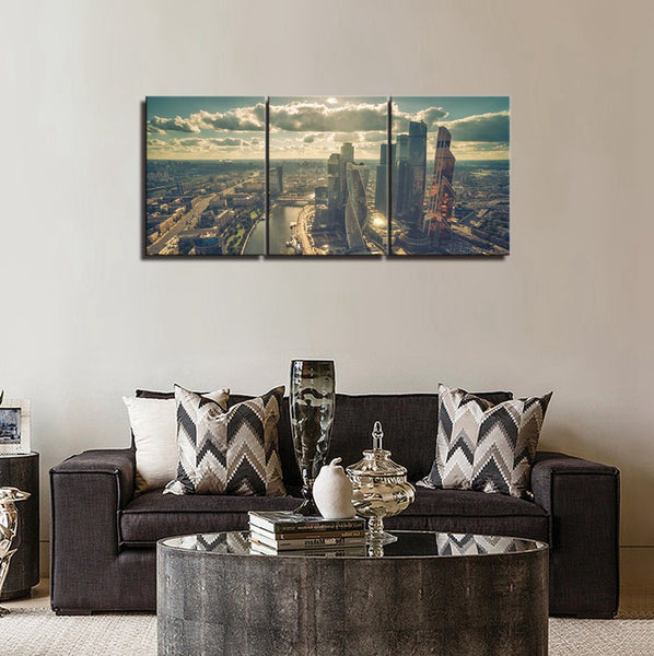 Moscow City Wall Art Landscape Canvas Painting Art Picture Print Wall Decor For Living Room Modern Home Decor Modular Art Work