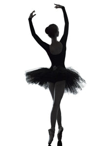 Elegance Ballet Dancer White and Black Poster Print on Canvas 3 Piece Wall Art for Living Room Decor Office Artwork Drop Ship