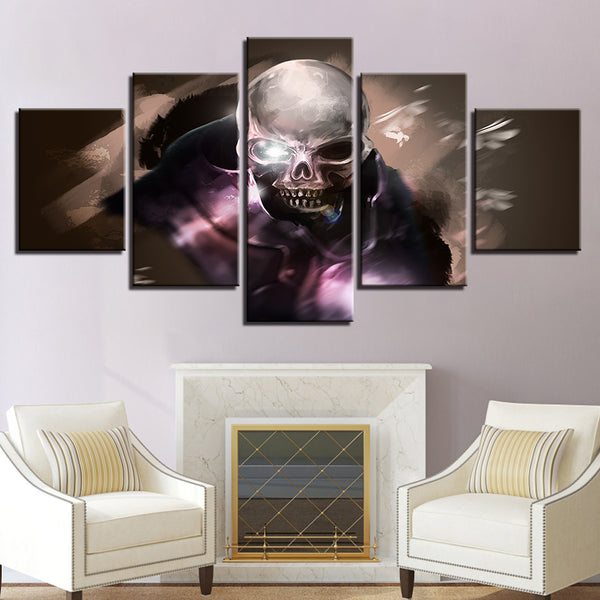 Modular Canvas Pictures Poster Wall Art 5 Pieces Abstract Skull Paintings Framework Decoration Home Living Room Modern HD Prints