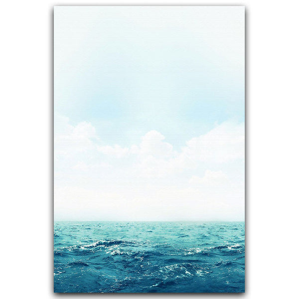 Nordic Landscape Freedom Abstract Ocean Inspirational Canvas Painting Art Print Poster Home Picture Wall Decoration