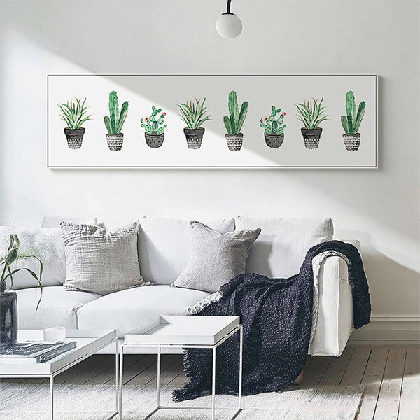 Nordic simple Cactus Potted Poster Banner Canvas Painting Art Print Poster Wall Picture Paintings Bedroom Decor
