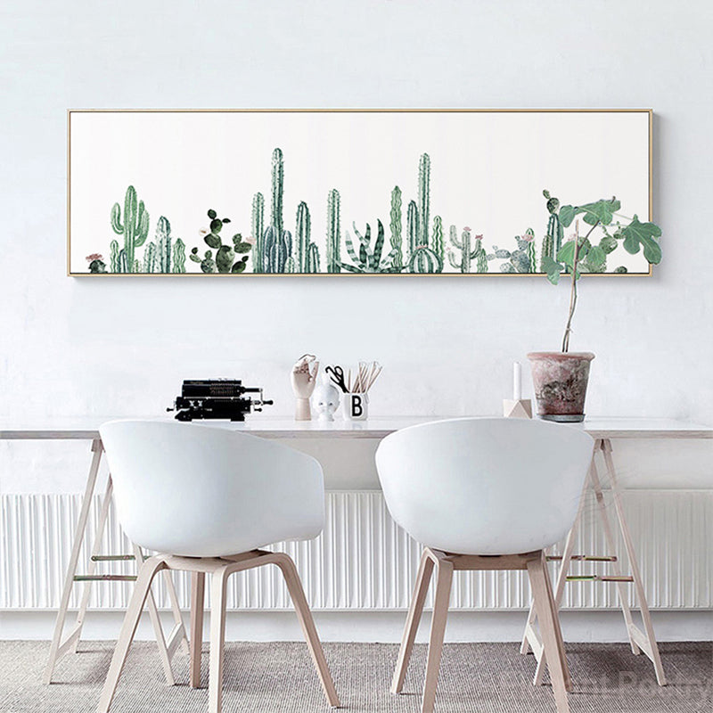 Nordic simple Cactus Potted Poster Banner Canvas Painting ...