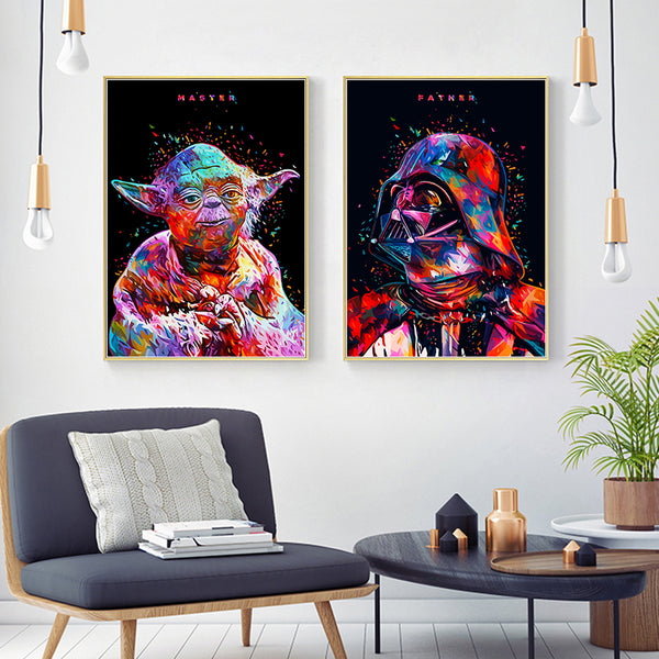 Modern Simple Star Wars Series Canvas Painting Art Print Poster Picture Movie Wall Home Bedroom Living Room Decoration Painting