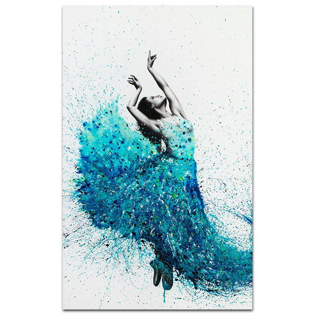 Modern Minimalism Art Dancing Ballet Girl Watercolor Canvas Painting Art Print Poster Picture Wall Paintings Home Decoration