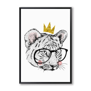 Elegant Poetry Crown Abstract Cartoon Phrases Canvas Painting Art Print Poster Picture Wall Home Wall Decor, Bedroom Decoration