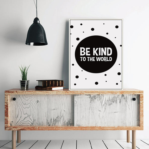 Black and White Inspirational Motivational Phrase Canvas Art Painting Print Poster Picture Wall Office Bedroom Home Decor A2 A3