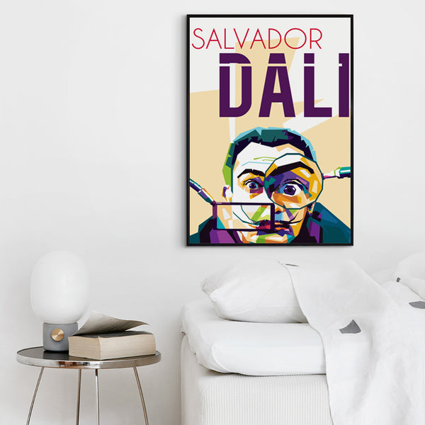 Elegant Poetry Surrealist Painter And Prints Salvador Dali Portrait Canvas Painting Art Print Image Poster Wall Home Decoration