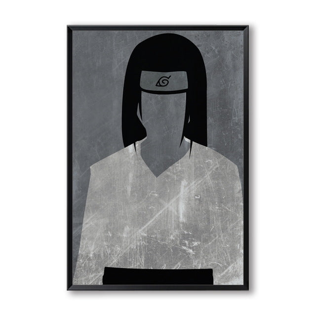 Elegant Poetry Japanese Anime Naruto Modern Simple Retro Role Canvas Painting Print Picture Poster Children Bedroom Decoration