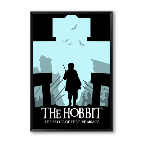 Elegant Poetry Hobbit Classic Movie Decoration A4 Canvas Painting Art Print Poster Picture Wall Paintings Home Wall Decoration