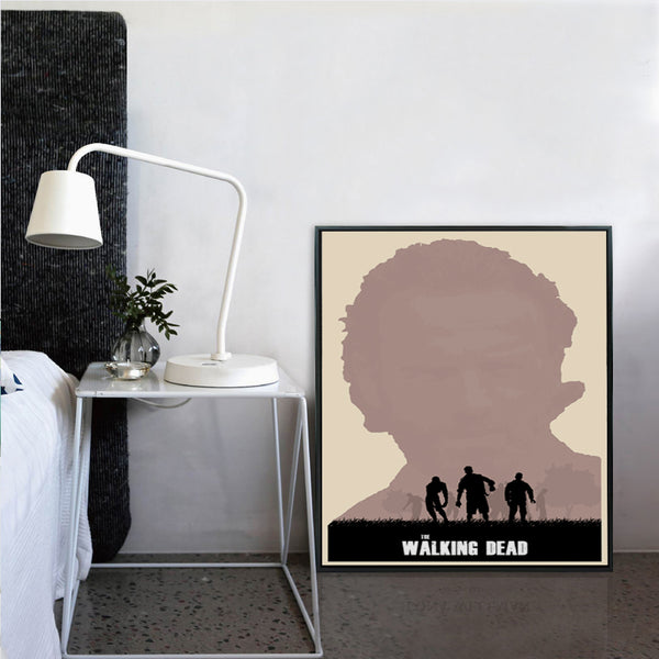 Elegant Poetry Modern Simple American TV Walking Dead Digital Painting Art Print Canvas Poster Picture Home Bedroom Decoration