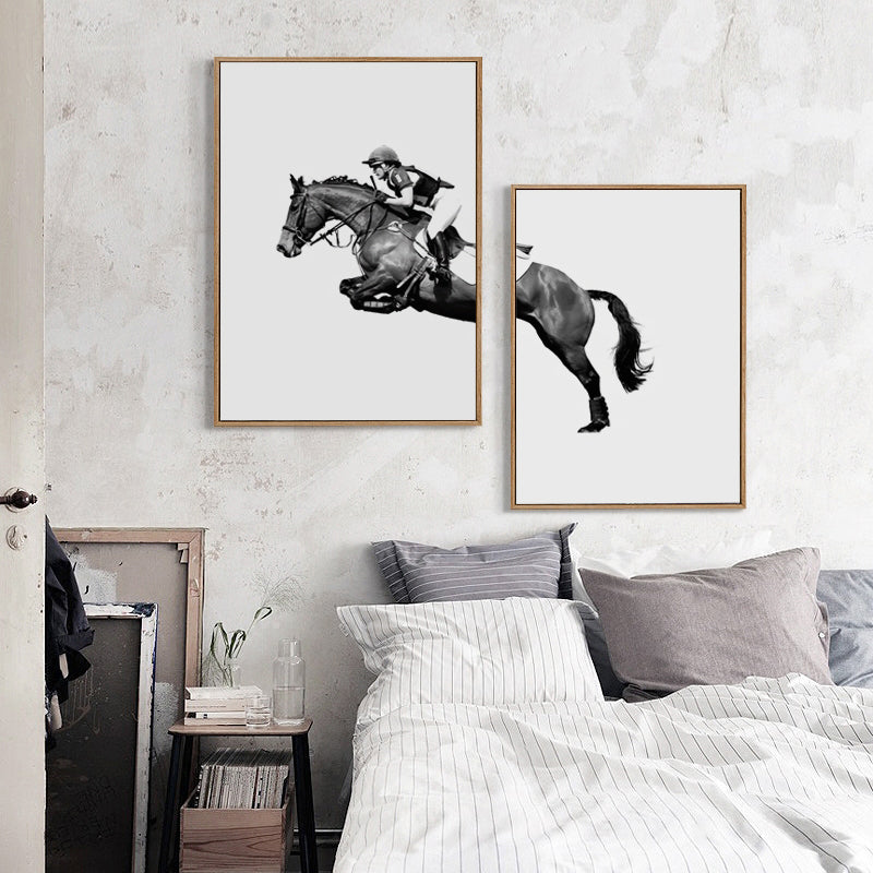 Abstract Equestrian Show Moment Modern Minimalist Decor Canvas Painting Art Print Poster Wall Paintings Home Wall Decoration
