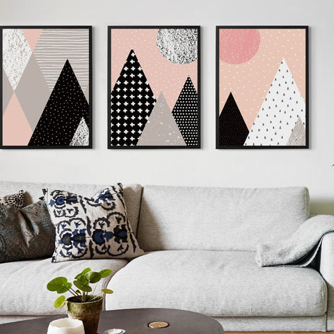 Nordic Cartoon Geometric Abstraction Canvas Painting Art Print Poster Picture Wall Painting Children Bedroom Decor