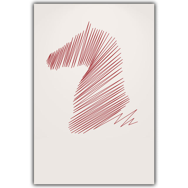 Modern Simple Abstract Curve Horse Portrait Canvas Painting Art Print Poster Picture Wall Paintings Home Wall Decor