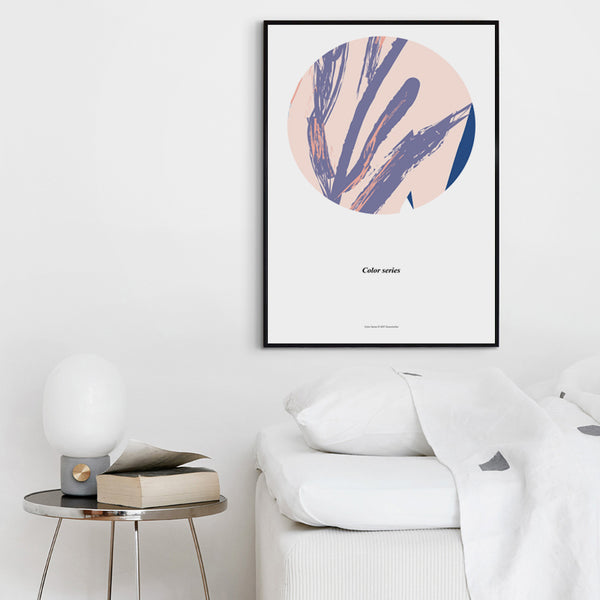 Modern Minimalist Abstract Round Painted A4 A3 A2 Canvas Art Print Poster Picture Wall Living Room Bedroom Office Home Decor