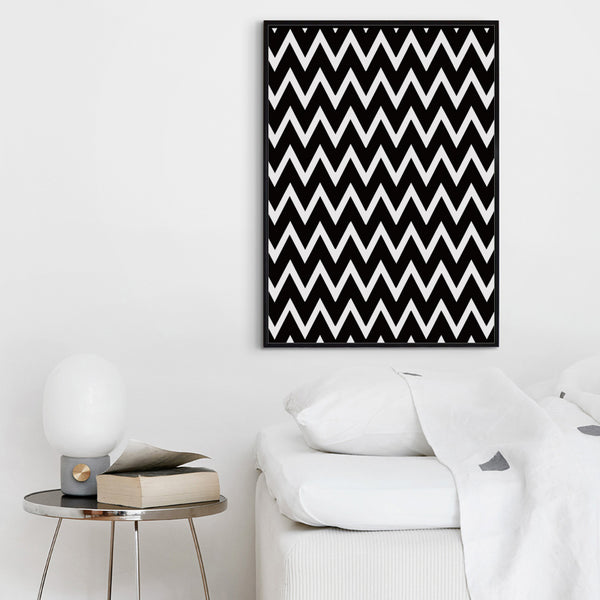 Simple Black And White Abstract Geometric Pattern Canvas Art Painting Print Poster Picture Wall Office Bedroom Home Decor A2 A3