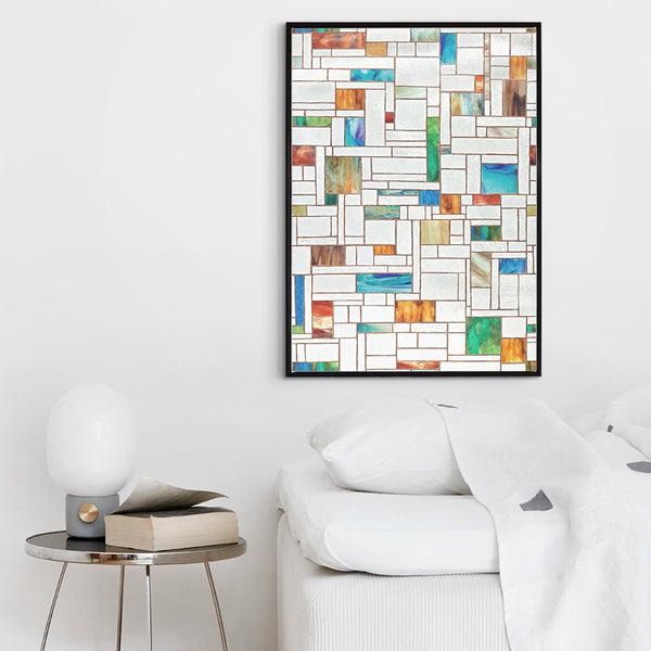 Minimalistic Abstract Colorful Squares Canvas Painting Art Print Poster Picture Wall Bedroom Living Room Home Decor AB095