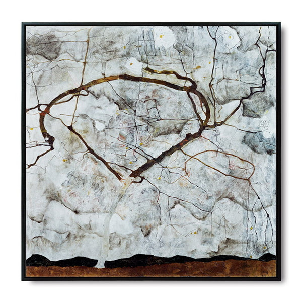 Schiller Autumn Tree Abstract Oil Painting Canvas Art Painting Print Poster Picture Wall Painting Home Wall Decor