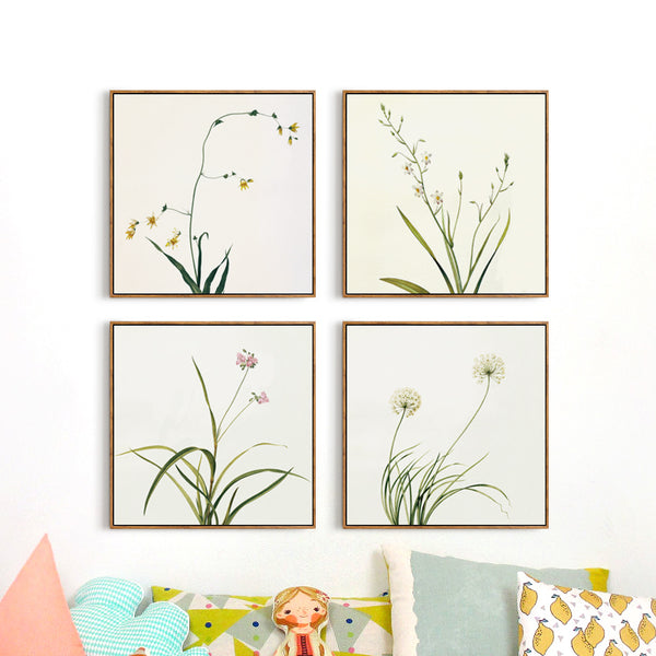 Elegant Poetry Modern Nordic Simple Fresh Flower Canvas Art Painting Print Picture Poster Mural Elegant Bedroom House Decoration