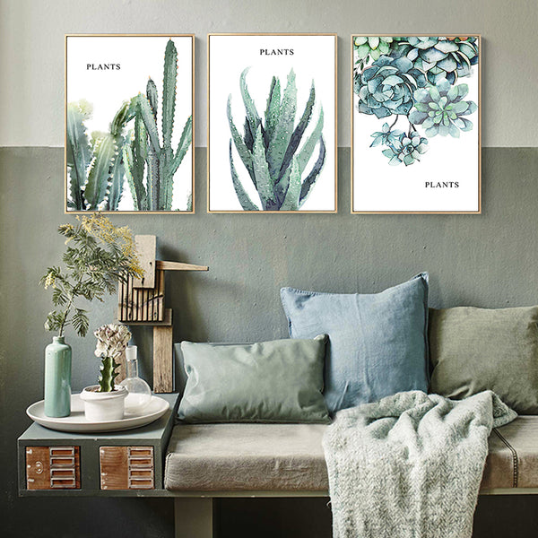 Modern Simple Green Thick Plant Leaf Landscape Canvas Painting Poster Wall Art Home Picture Wall Decoration