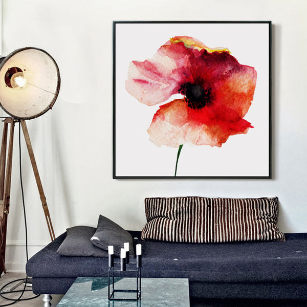 Elegant Poetry Nordic Art Paintings Watercolor Flowers Canvas Painting Art Print Poster Picture Wall Paintings  Home Decor