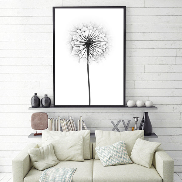 Plant Potted Dandelion A2 A3 A4 Canvas Art Abstract Painting Print Poster Picture Wall School Office Bedroom Home Decor