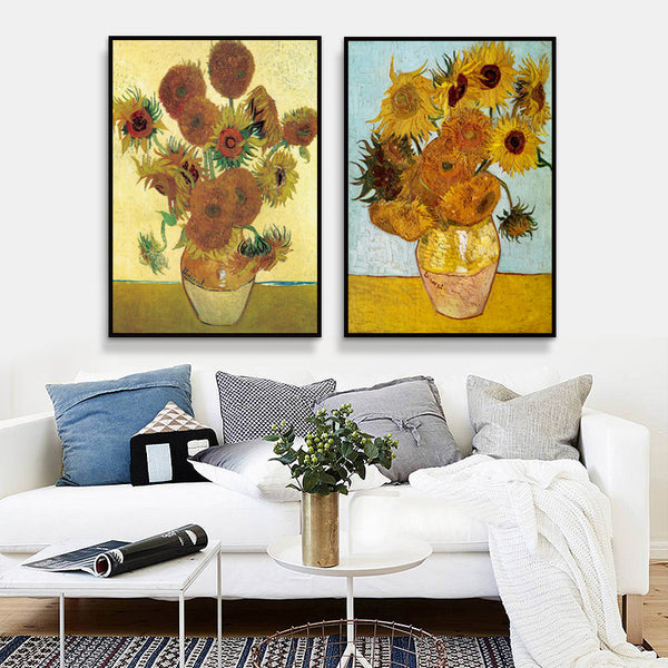 Sunflower by Vincent Van Gogh Famous Artist Impressionism Art Print Poster Wall Picture Canvas Painting Wall Decor