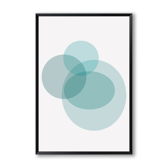 Nordic Simple Abstract Citation Geometry A4 Canvas Painting Art Print Poster A4 Picture Wall Decoration Home Decor
