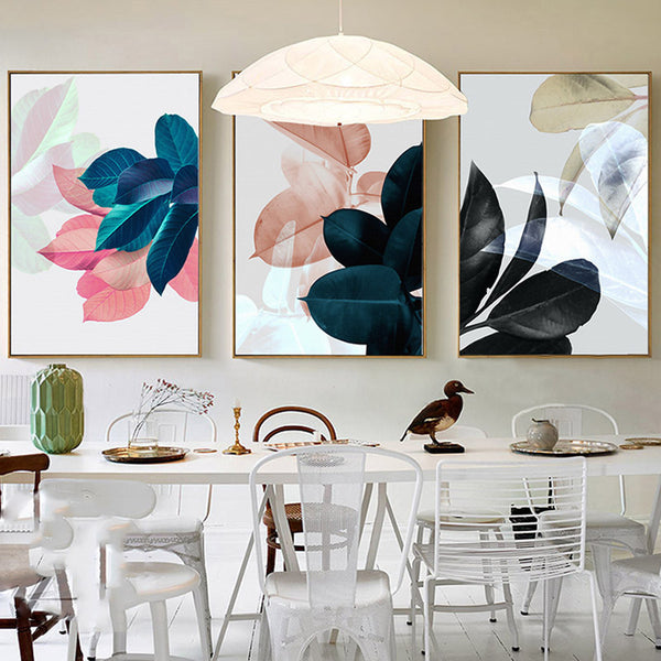 Wall Pictures For Living Room Leaf Cuadros Decoracion Picture Nordic Poster Wall Art Canvas Painting Posters And Prints Unframed