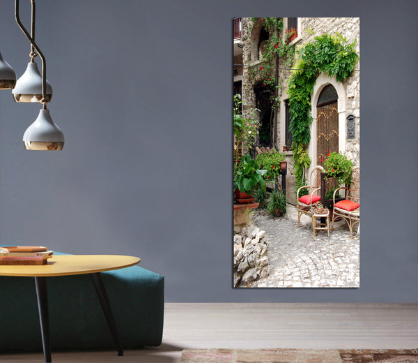 1 Panel the ancient architectural gardening canvas paintings wedding decoration Modular wall Picture for living room no frame