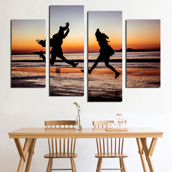 Nordic Sandy Beach Canvas Painting Living Room Decorative Posters Modern Simple Landscape Creative Photography Sea Waves FA566