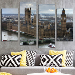 Black White World City Poster Nordic Living Room London Wall Art Pictures Home Decor Canvas Painting No Frame FA578