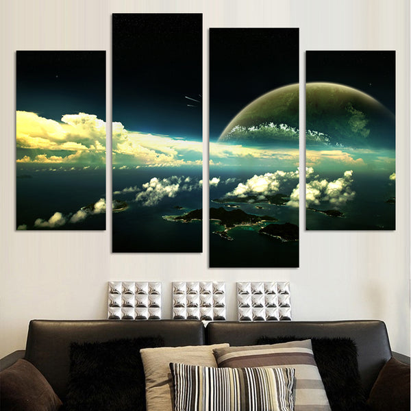 Fashion The Earth Map From the Space HD Large Modern Canvas Painting Wall Art Free Shipping Worldwide Wholesale F266