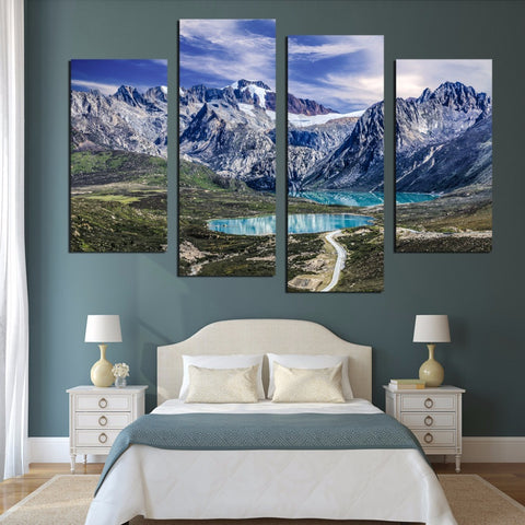 Nordic Wall Art Canvas Painting Snow Mountain Posters And Prints Canvas Art Wall Pictures For Living Room Frameless FA561